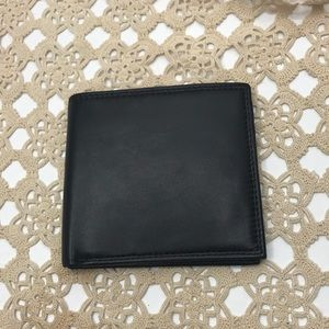 Buxton black genuine leather wallet
